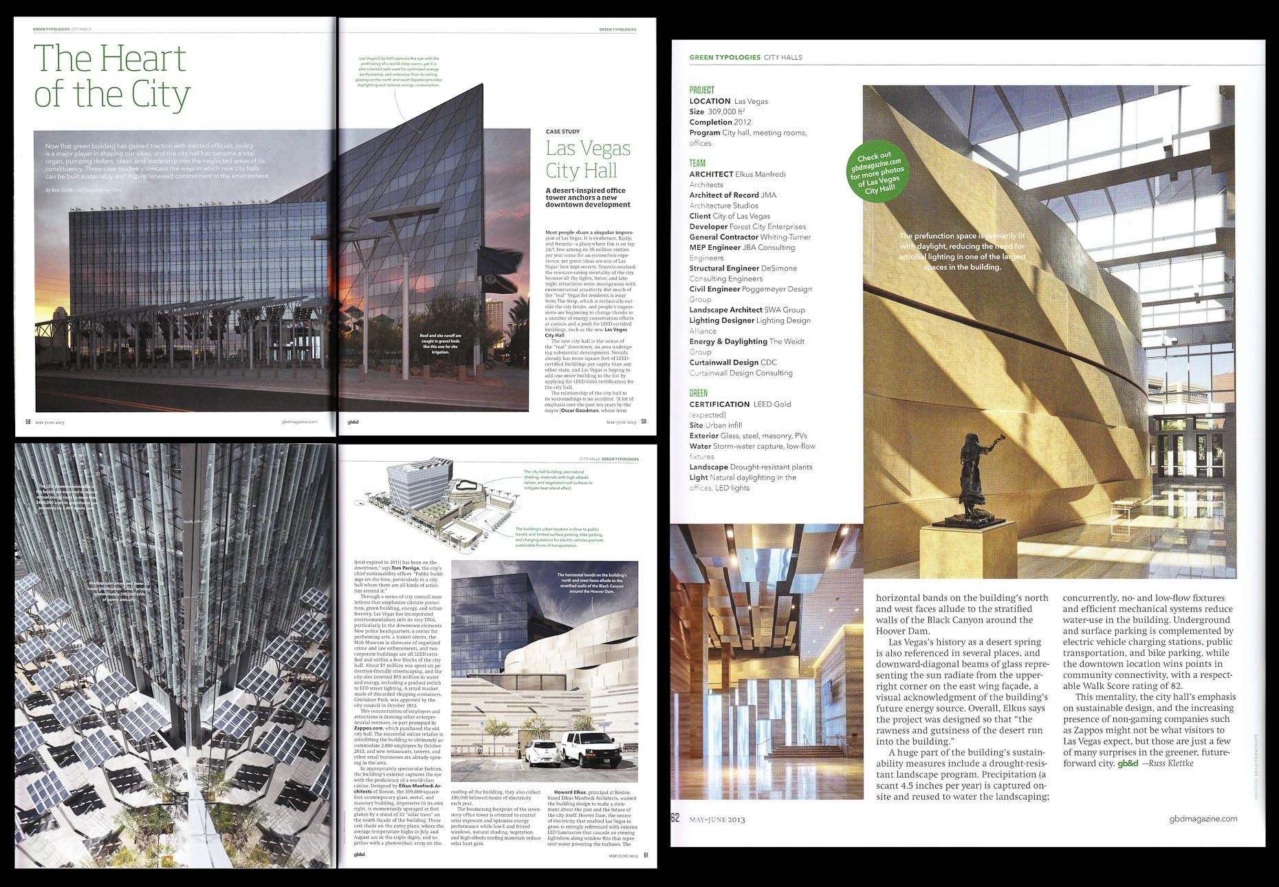 Green Building & Design May/June 2013 Issue Las Vegas City Hall