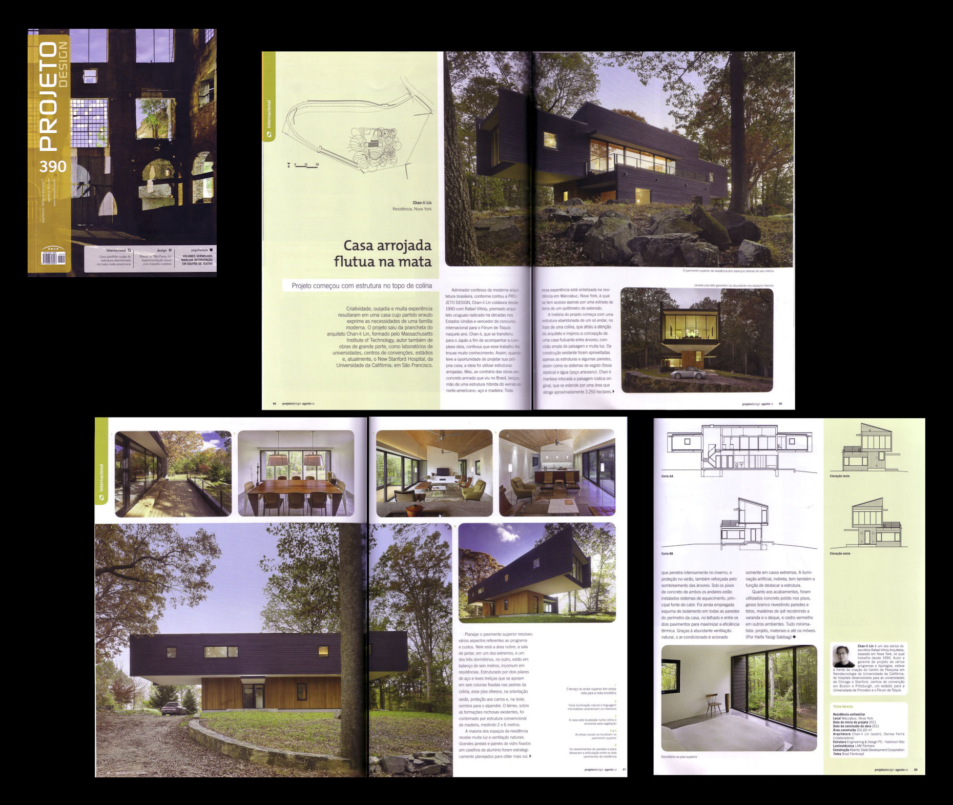 Projecto Design August 2012 Issue Waccabuc House