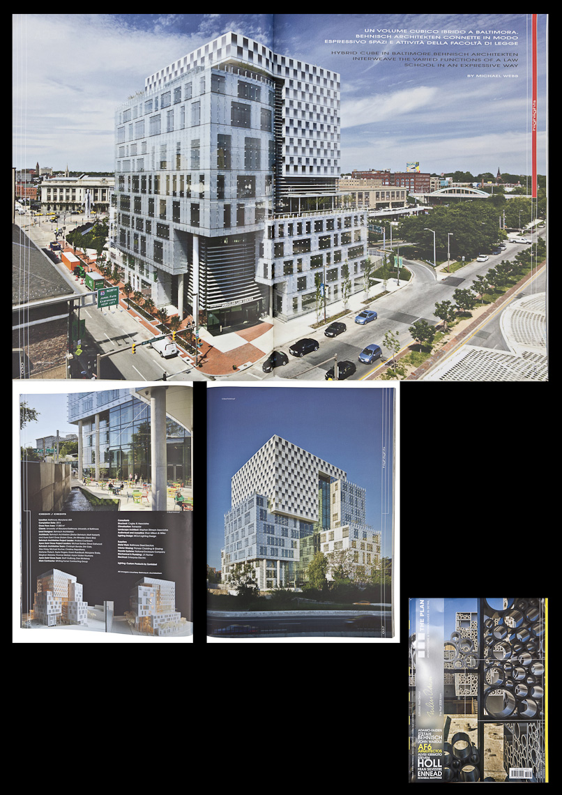 The Plan September 2013 Issue Featuring John & Frances Angelos Law Center by Behnisch Architekten