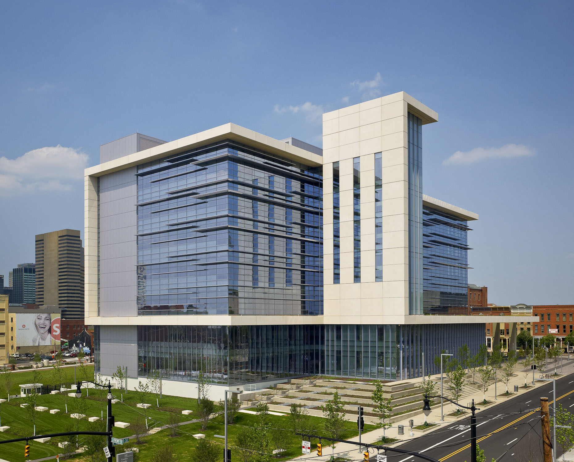Franklin County Common Pleas Courthouse | Arquitectonica, Design Group and Ricci Greene Associates