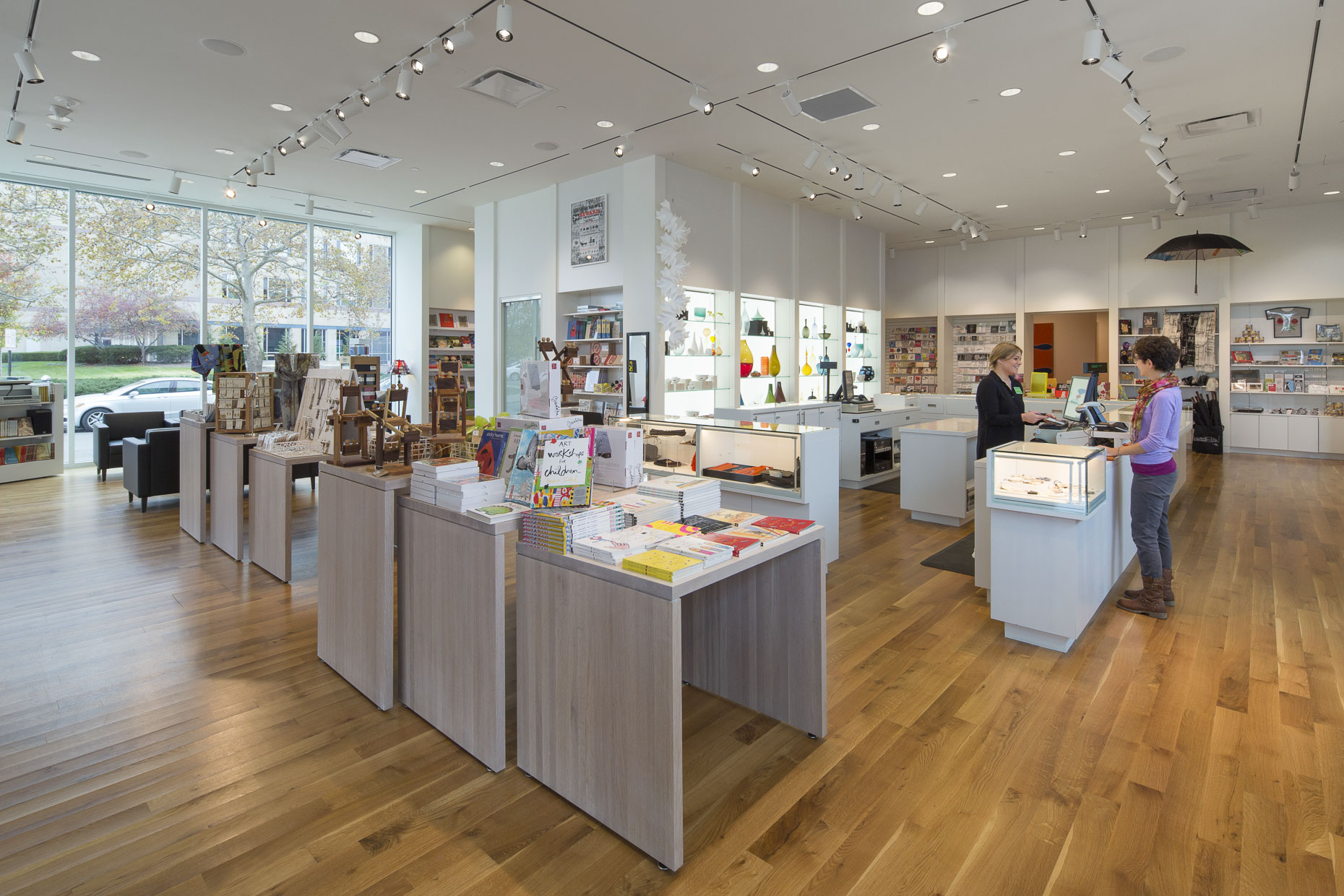 CMoA Gift Shop in the Margaret M Walter Wing by DesignGroup photographed by Brad Feinknopf based in Columbus, Ohio