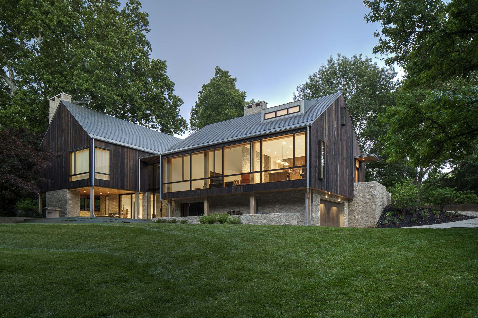 Sullivan Private Residence by JBAD photographed by Brad Feinknopf based in Columbus, Ohio