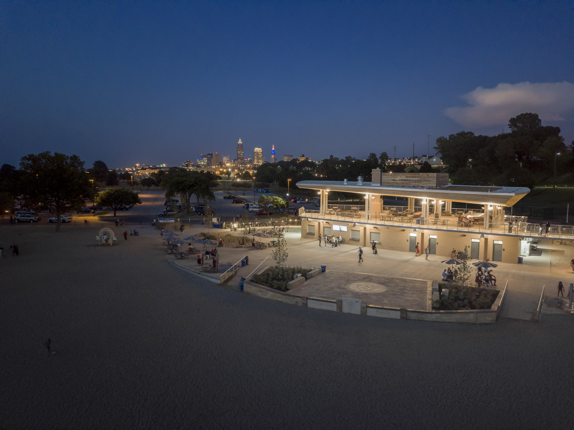 Edgewater Park Beach House by Bialosky Cleveland photographed by Brad Feinknopf
