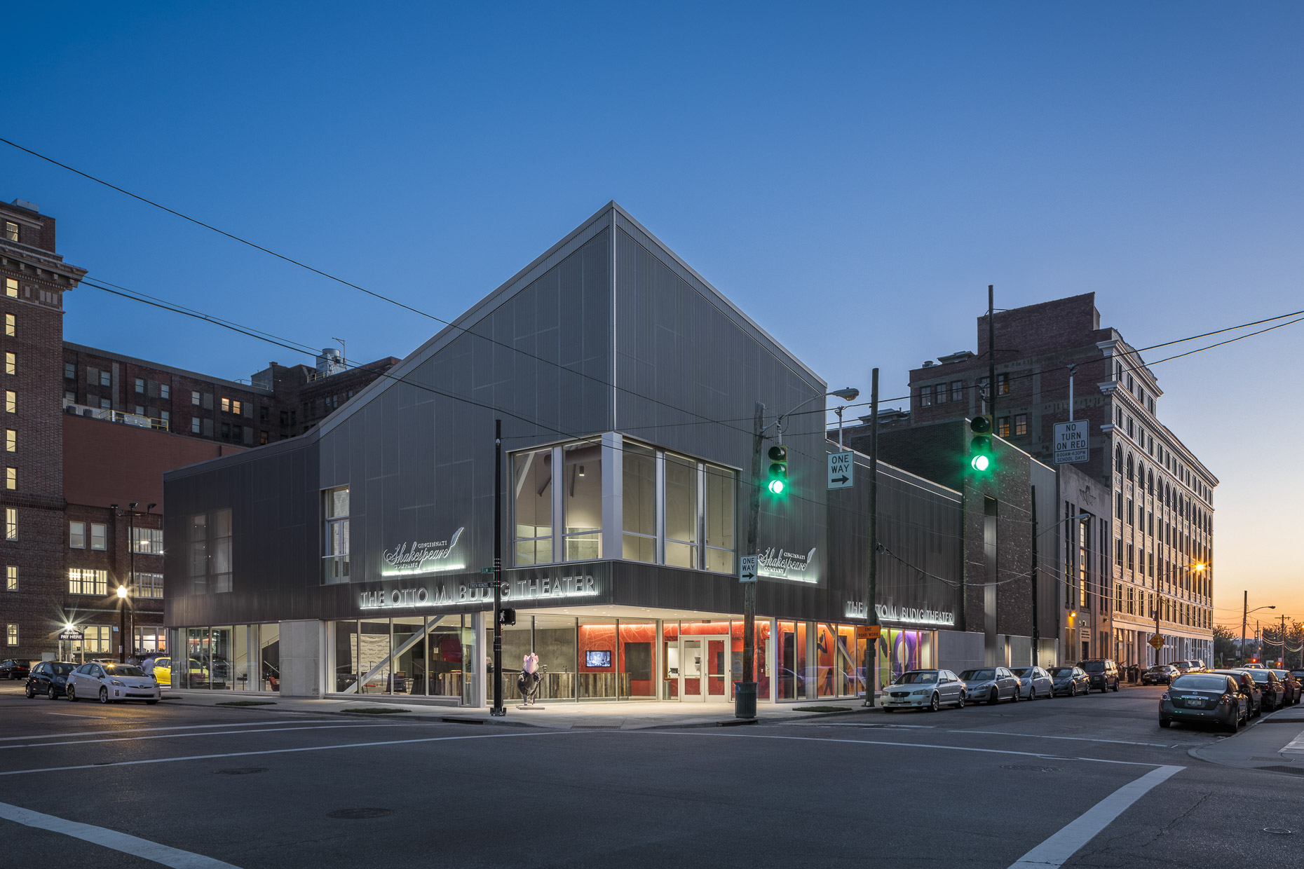 Cincinnati Shakespeare Company Otto M Budig Theater by GBBN photographed by Brad Feinknopf based in Columbus, Ohio