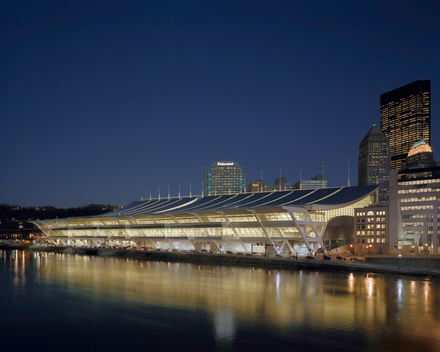 David L Lawrence Convention Center by Rafael Viñoly Architects photographed by Brad Feinknopf based in Columbus, Ohio