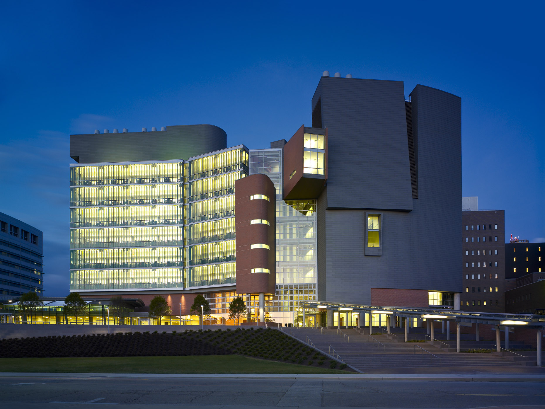 UC Medical Center CARE Crowley Building  by Studios Architecture photographed by Brad Feinknopf based in Columbus, Ohio