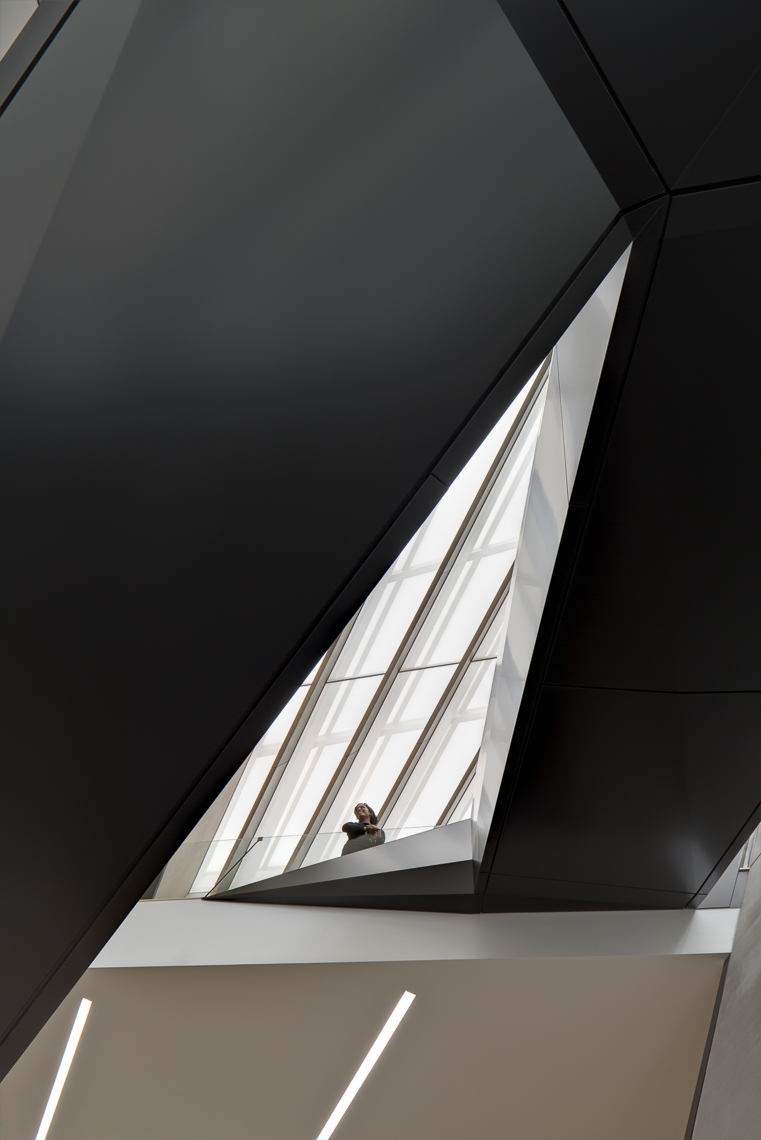Broad Art Museum by Zaha Hadid Architects photographed by Brad Feinknopf based in Columbus, Ohio