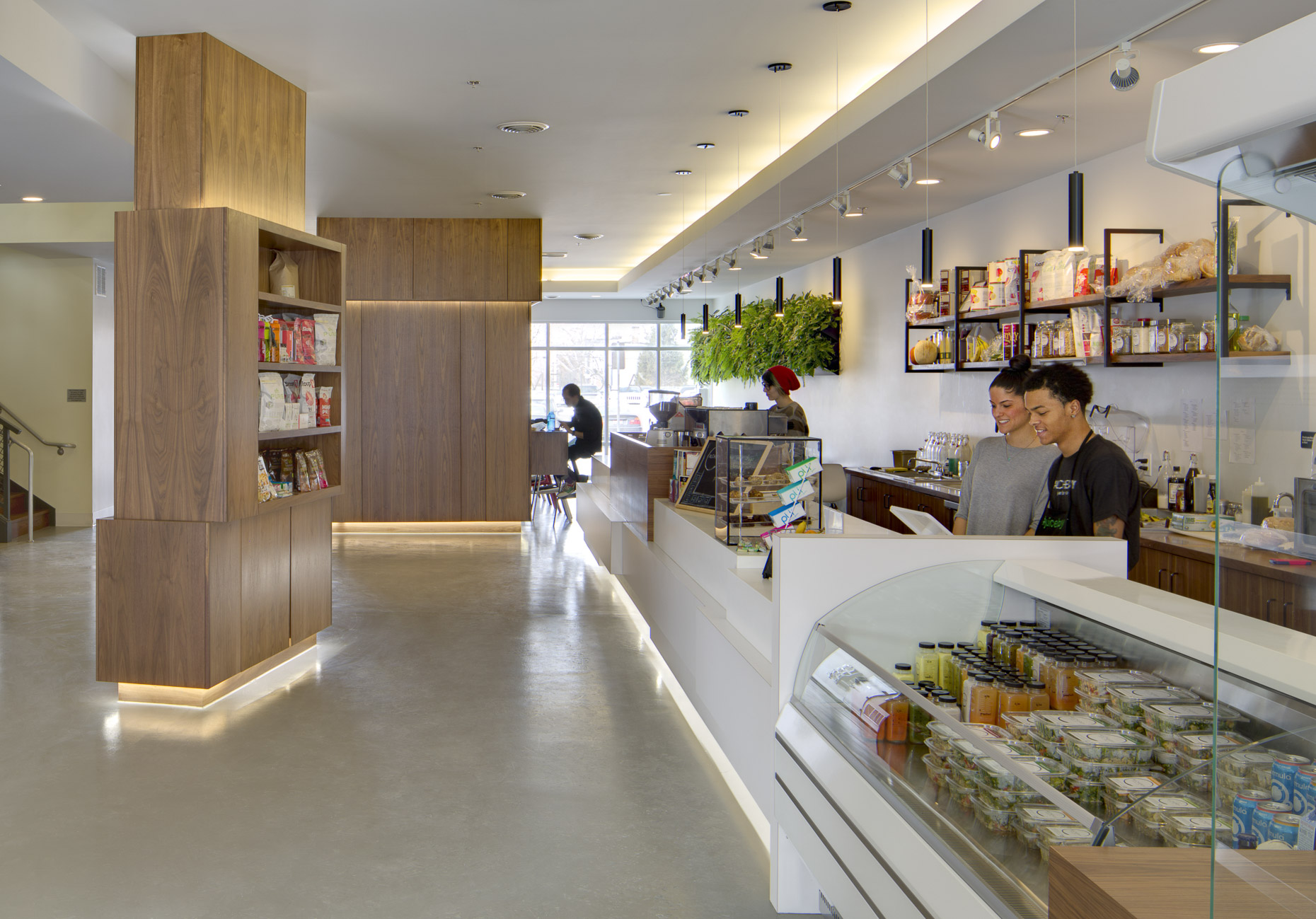 Alchemy Juice Bar & Cafe by Tim Lai Architect photographed by Brad Feinknopf based in Columbus, Ohio