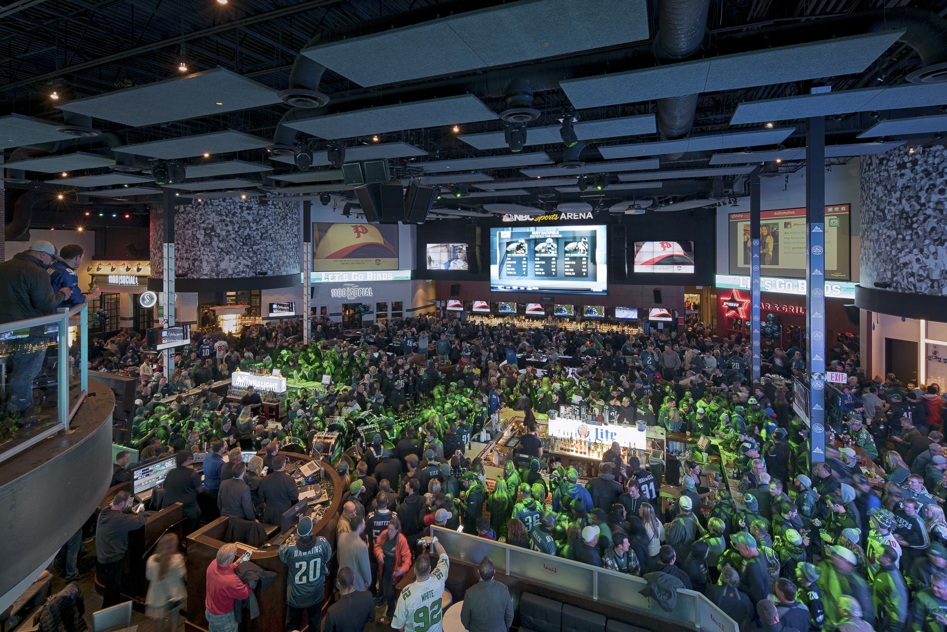 XFinityLive! Philadelphia by FRCH Design Worldwide photographed by Lauren K Davis based in Columbus, Ohio