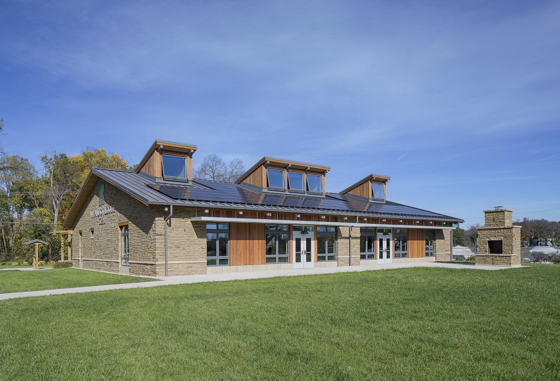 Columbus Recreation & Parks Wyandot Lodge by M+A Architects photographed by Lauren K Davis based in Columbus, Ohio