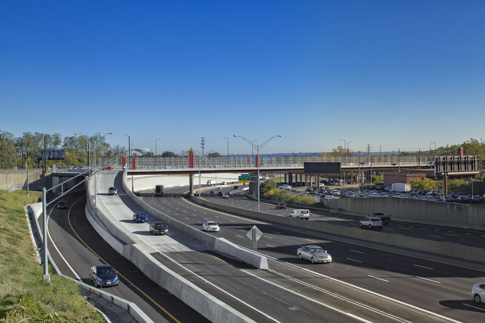 US I-71 Martin Luther King Drive Interchange in Cincinnati by Kokosing Construction Photographed by Lauren K Davis based in Columbus, Ohio
