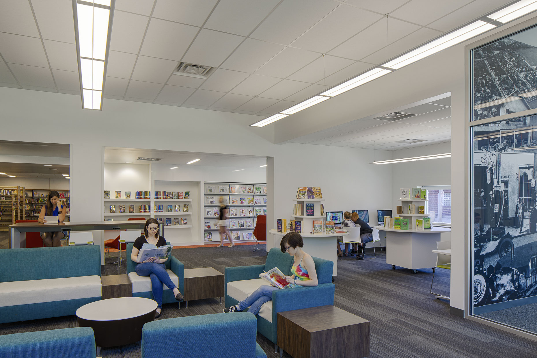 Wood County District Library Walbridge Branch by DesignGroup photographed by Lauren K Davis based in Columbus, Ohio